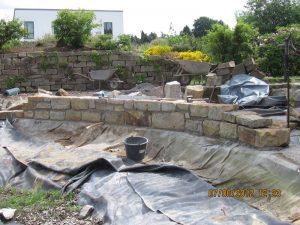 Gartenmauern Baubetrieb Kiltsch - Teichumrandung