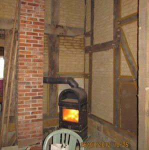 Fachwerkhaus Harmening mit Ofen